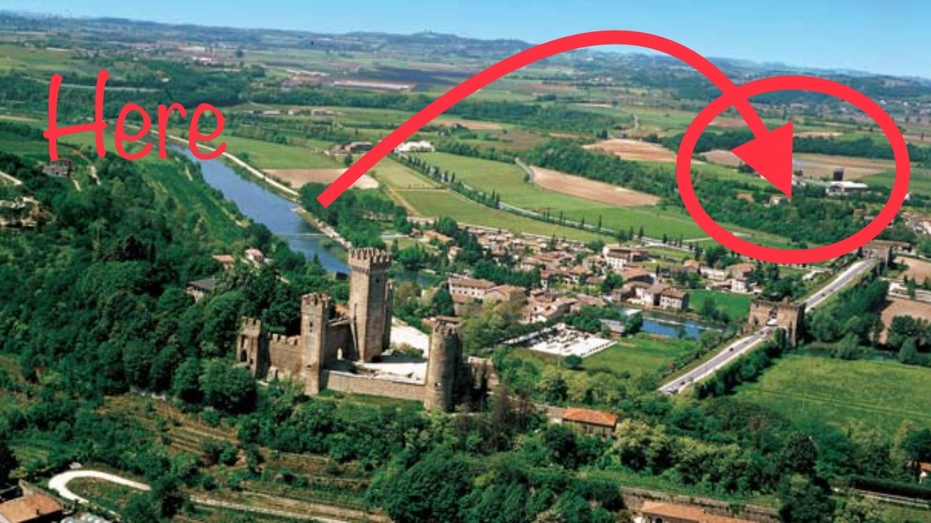 Map to find Holiday appartments in Borghetto sul Mincio, Verona